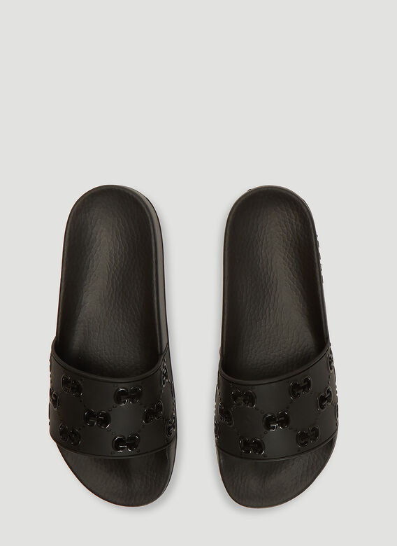 Gucci GG Cut-Out Rubber Slides 2
