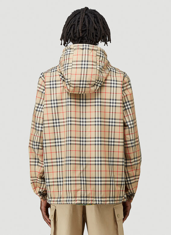 Burberry STRETTON CHK R HOODED JACKET 4