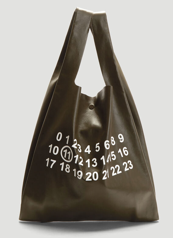Number Tote Bag In Khaki by Maison Margiela