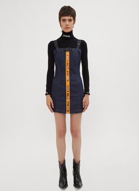 Heron Preston Handle With Care Denim Dress