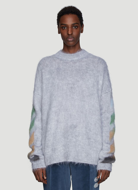 Off-White Diagonal Brushed Sweater