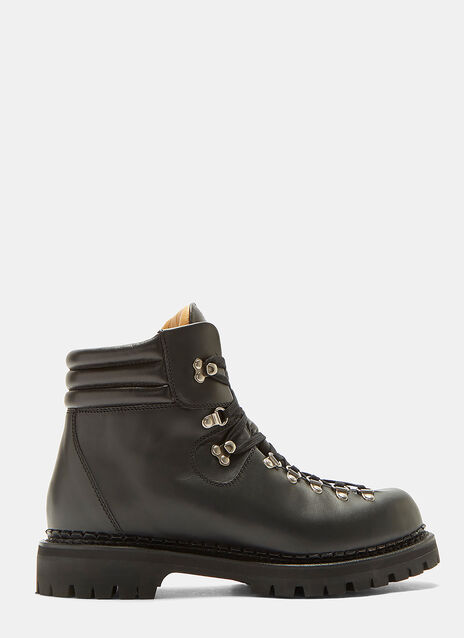 Gucci Leather Trekker Ankle Boots