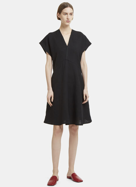 Acne Studios Jessia Raw Linen Dress