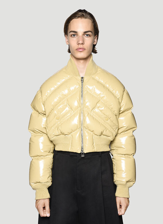Bottega Veneta Leather Padded Jacket 1