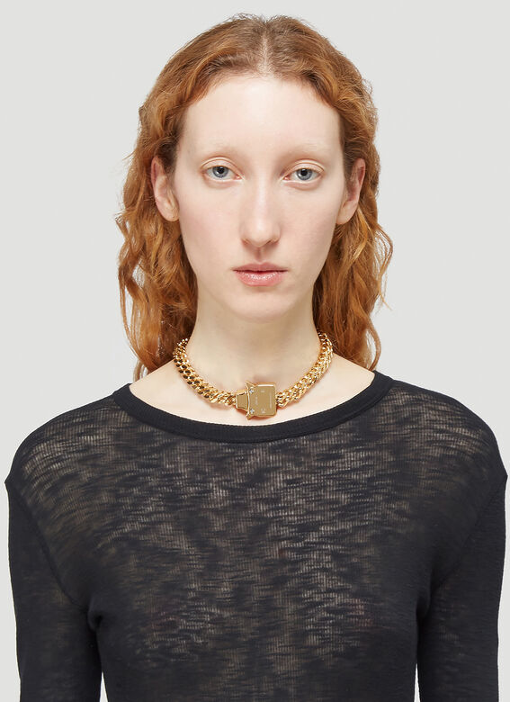 1017 ALYX 9SM CUBIX CHAIN NECKLACE W/ FIXED BUCKLE 2