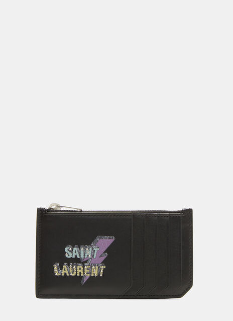 Saint Laurent Fragments Eclair Lightning Card Holder