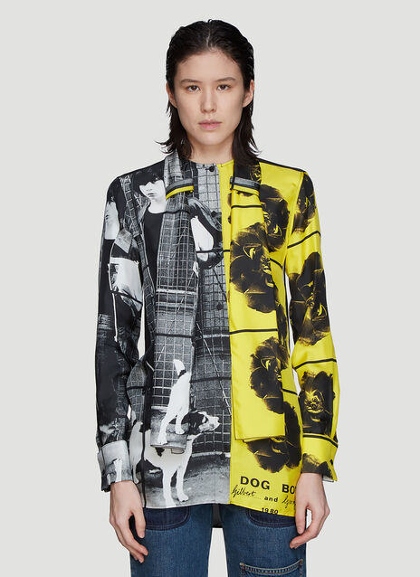 JW Anderson X Gilbert & George Dog and Boy Silk Shirt