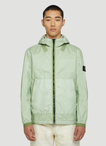 Stone Island HOODED JACKET - LIGHT GREEN