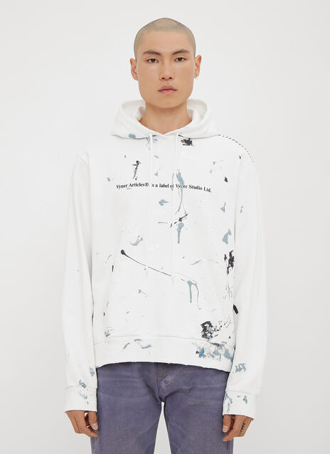 Vyner Articles Hooded Paint Splatter Logo Sweatshirt