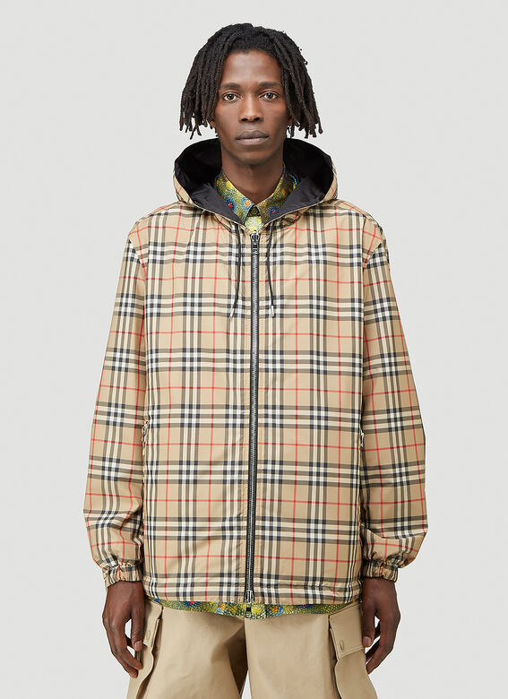 Burberry STRETTON CHK R HOODED JACKET 1