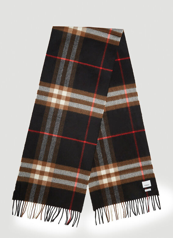 BURBERRY Scarves Check Scarf in Black