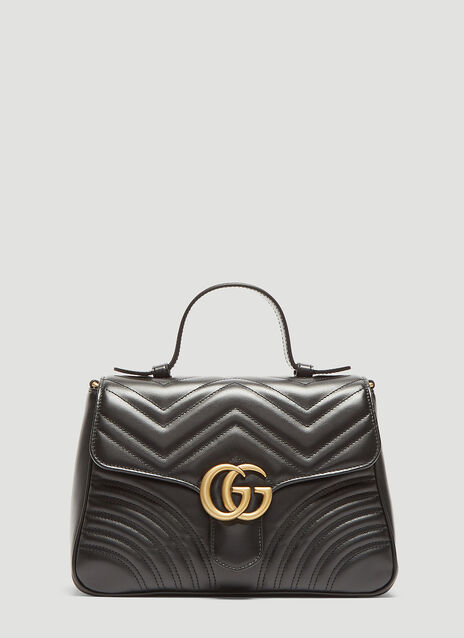 Gucci Small GG Marmont Top Handle Shoulder Bag