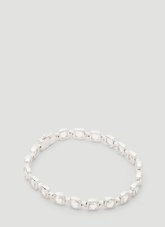 Tom Wood Cushion Rock Crystal Bracelet 1