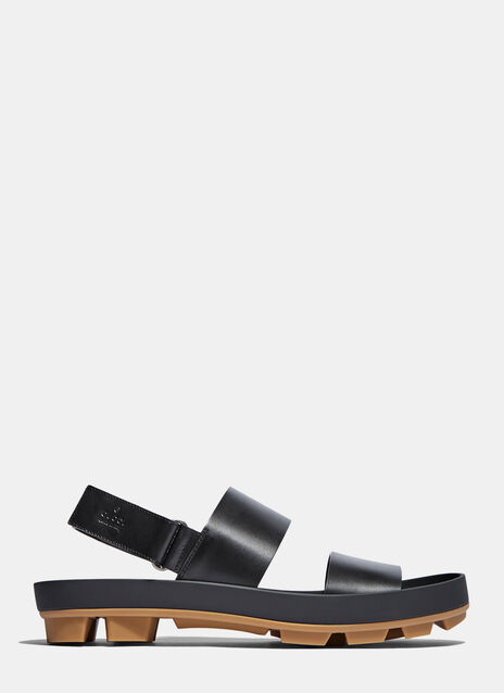 Gucci Leather Two Strap Sandals
