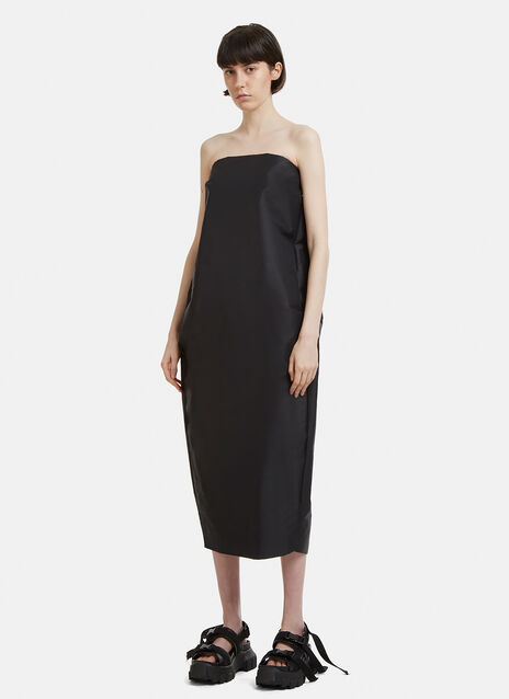 Rick Owens Short Pistil Strapless Dress