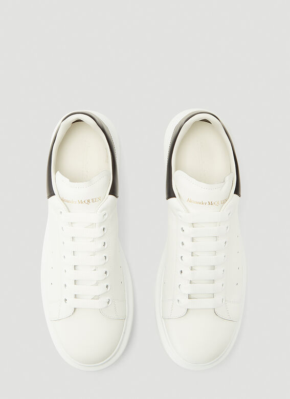 Alexander McQueen LARRY/LARRY LEATHER UPPER AND RU WHITE/BLACK 2