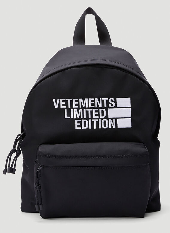 VETEMENTS Logo Limited Edition Backpack 1
