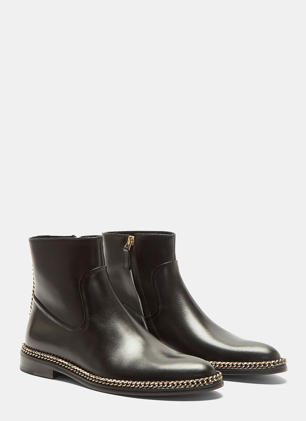 Lanvin Curb Chain Leather Ankle Boots 83nAnXmW8