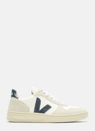 Veja V10 Suede and Mesh Sneakers