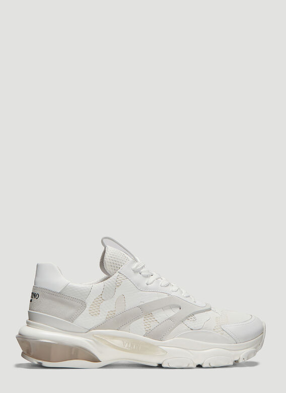 ad36b0164 Valentino Camouflage Bounce Sneakers in White
