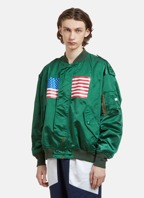 Facetasm Flag Bomber Jacket