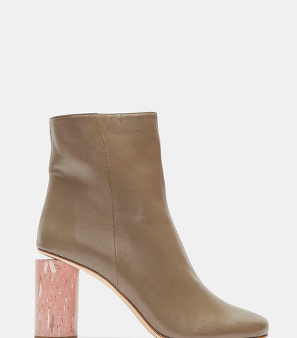 Althea Marble Cylinder Heeled Boots