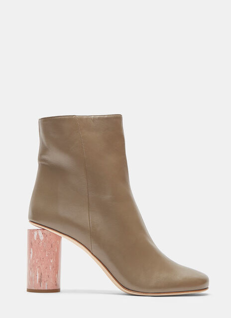 Acne Studios Althea Marble Cylinder Heeled Boots
