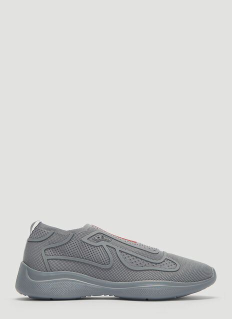 Prada  New America's Cup Sports Knit Sneakers
