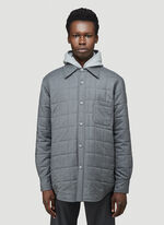 Thom Browne DOWNFILL SHIRT JACKET IN SUPER 120'S TWILL