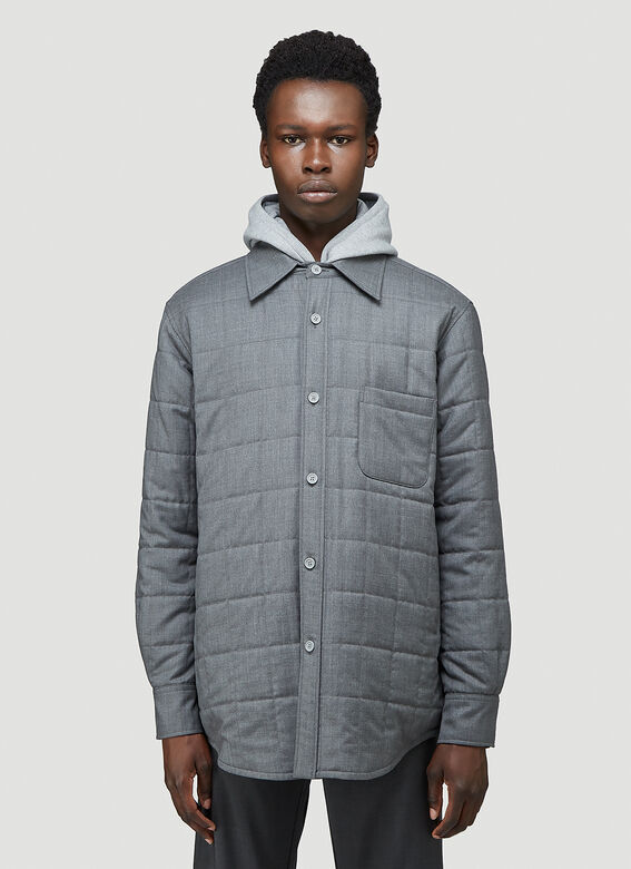 Thom Browne DOWNFILL SHIRT JACKET IN SUPER 120'S TWILL 1