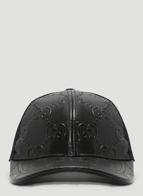 Gucci OVERSIZED EMBOSSED GG TENNIS TRUCKER CAP 1