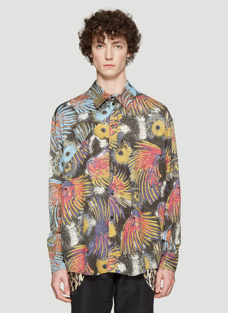 Martine Rose Floral Oversized Shirt