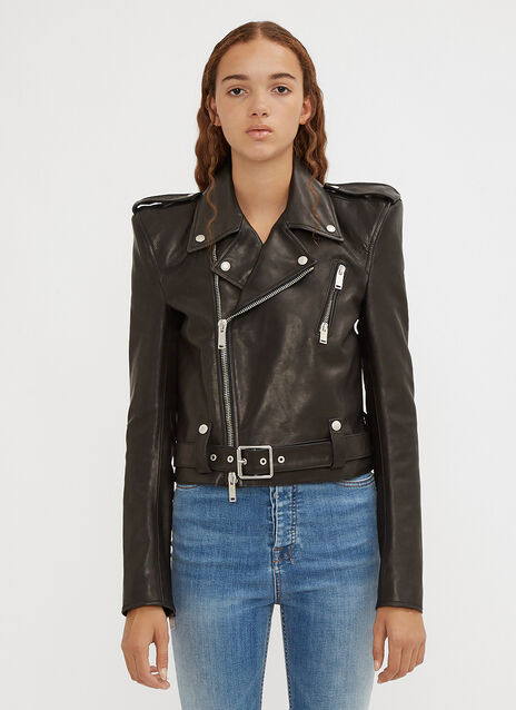 Unravel Project Spalline Chopped Biker Jacket