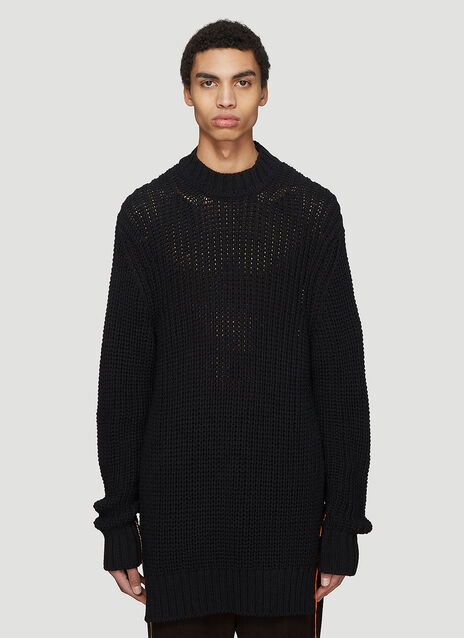 Jil Sander Destroyed Side Split Knit Sweater