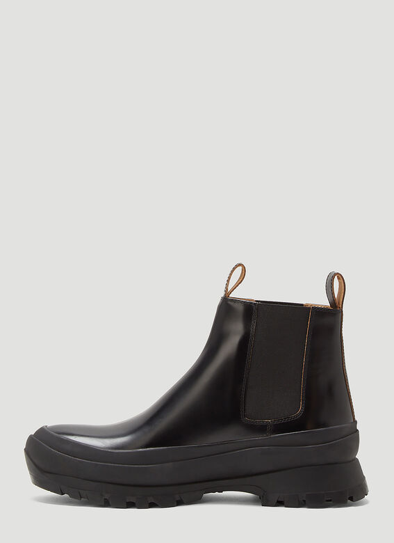 Jil Sander ANKLE BOOT - ANTICK 999 NERO+SUOLA GOMMA NERA 3