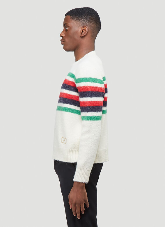 Gucci KNIT WITH RED GREEN NAVY STRIPE 3