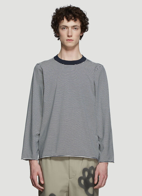 Camiel Fortgens Tailored Long Sleeve Striped T-Shirt