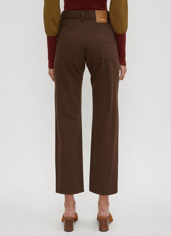 c4ddf5aa6c0f Jacquemus Le Jean Straight Leg Jeans in Brown