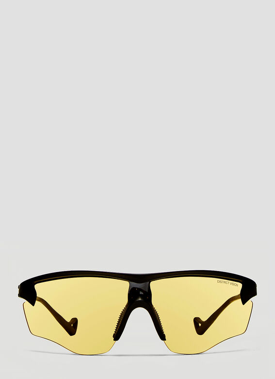 District Vision Sunglasses Junya Black- District Sports Sunglasses in Yellow