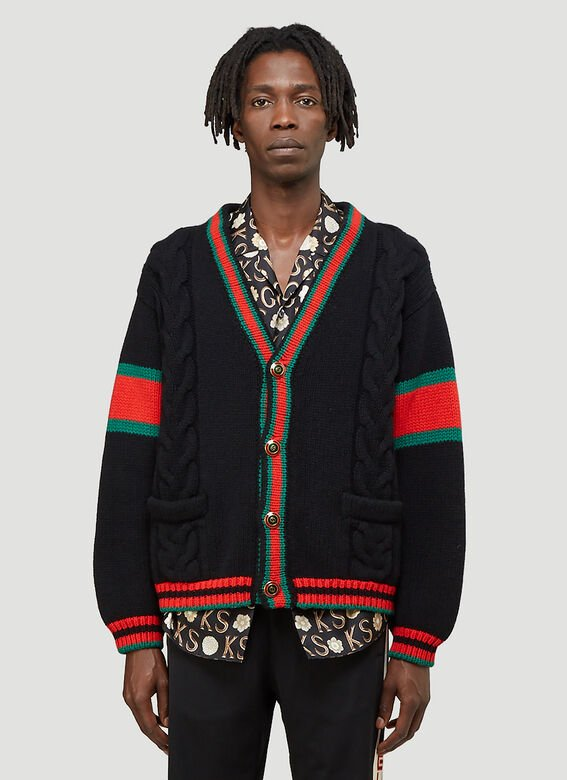 Gucci Oversized Cable-Knit Cardigan 1