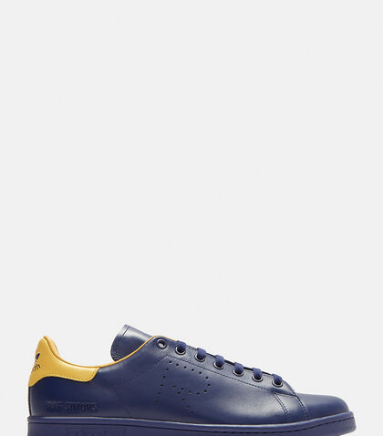 Adidas By Raf Simons Leathers Stan Smith Sneakers in Navy/Ochre