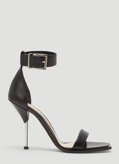 Alexander McQueen Double Strap Heeled Sandals