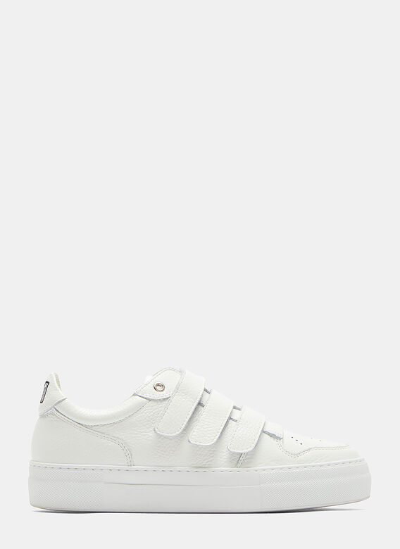 46bbbb3a26b8 Ami Triple-Strapped Low-Top Sneakers