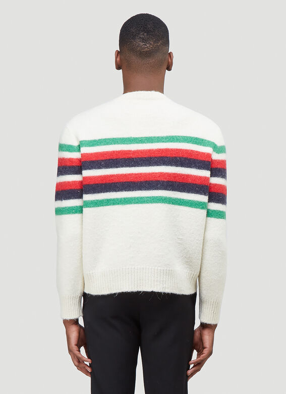 Gucci KNIT WITH RED GREEN NAVY STRIPE 4