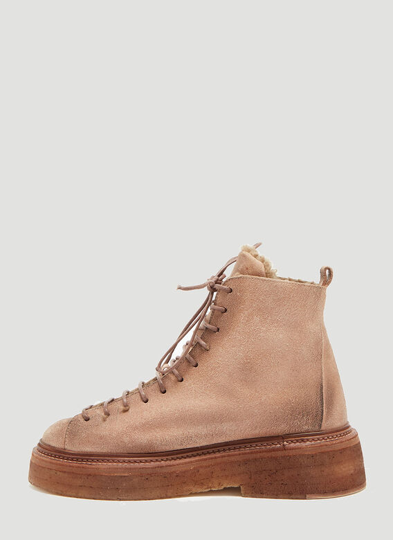 cca3874955f Marsèll Parruccona Shearling Lined Monkey Boots in Brown | LN-CC