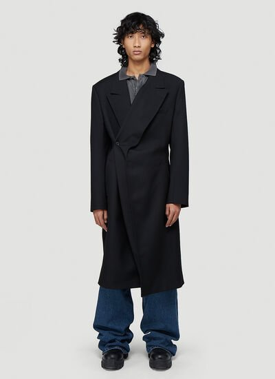 Y/Project Classic Twisted Lapel Coat