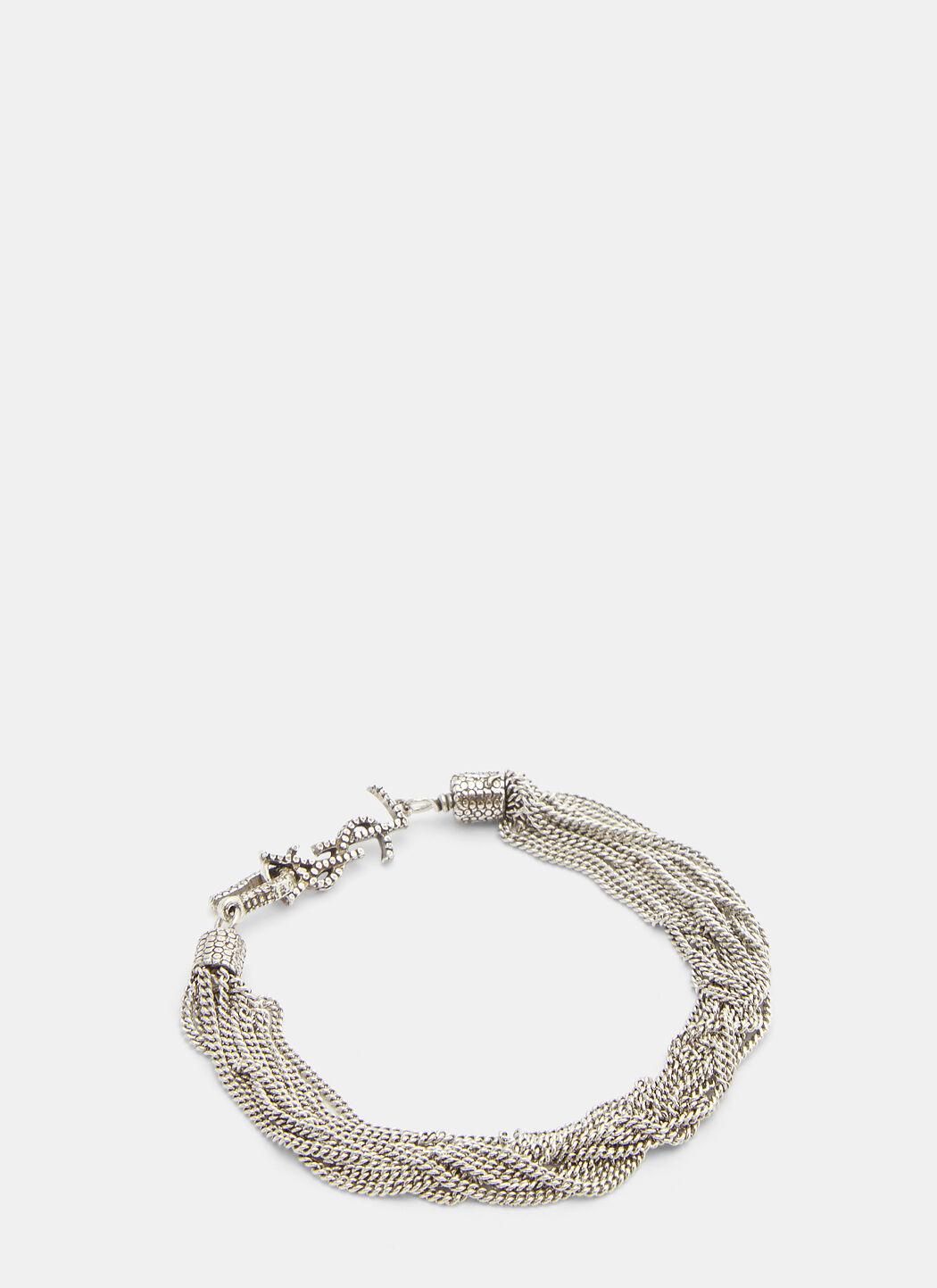 Saint Laurent Loulou Twisted Chain Bracelet AgaGmaGkD