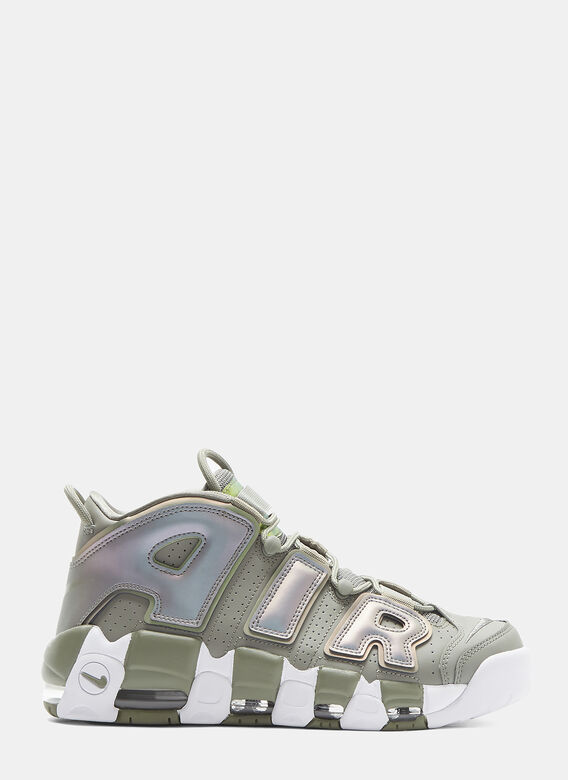 Air More Uptempo Sneakers In Green by Nike