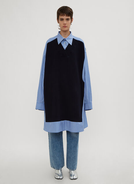 Maison Margiela Oversized Knit Panel Shirt