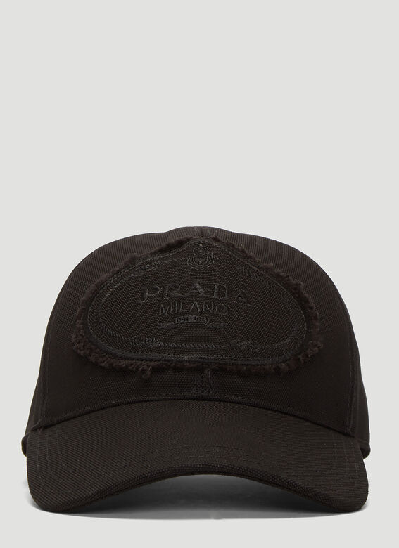 Prada Logo Baseball Cap in Black  9ae65b673b0